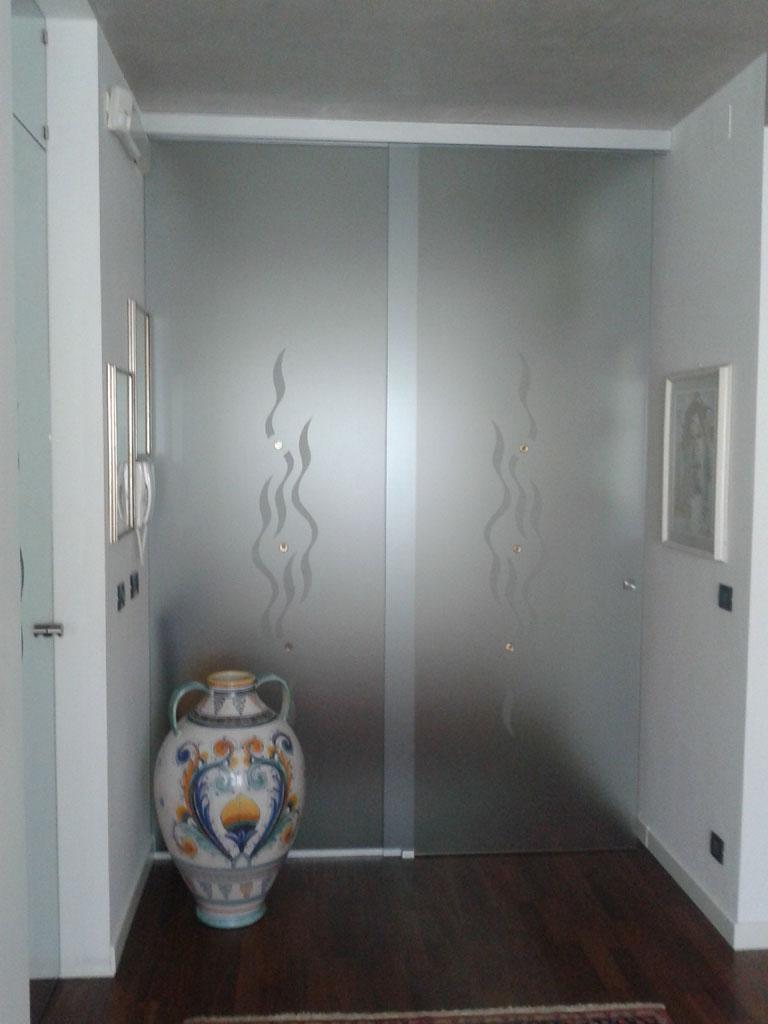 Con parte fissa porte di vetro vetrate artistiche - Porte va e vieni per interni ...