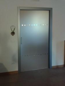 Vetro Satinato Decorato.Scorrevoli Interno Muro Porte Di Vetro Vetrate Artistiche