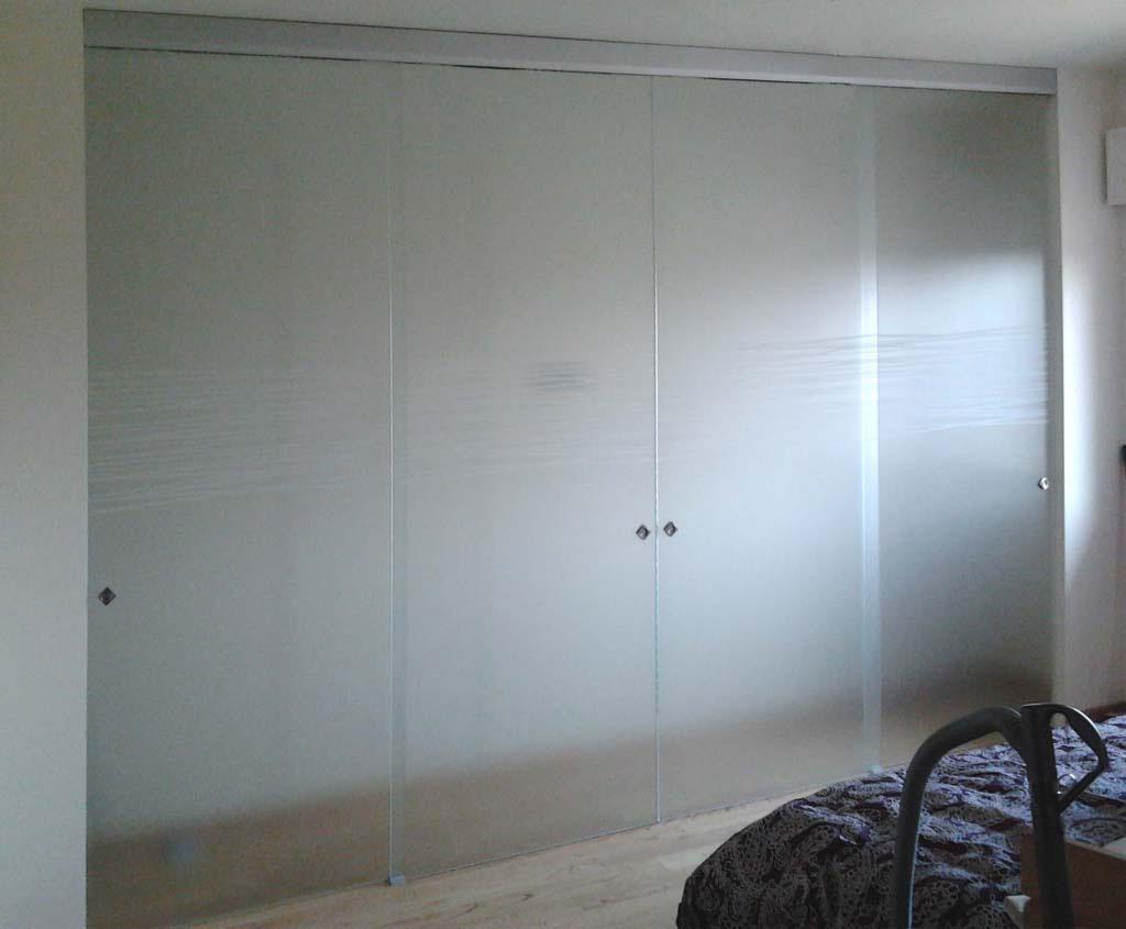 Best porte vetro satinato contemporary acrylicgiftware - Porte scorrevoli esterno muro ...