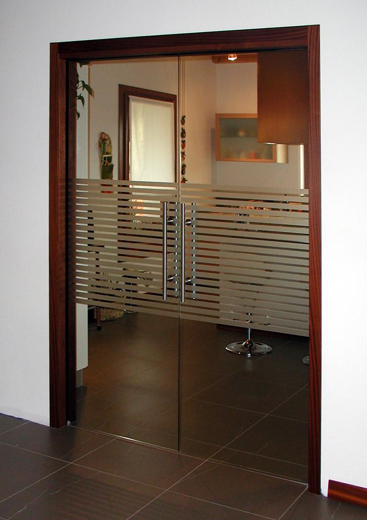 Scorrevoli interno muro porte di vetro vetrate artistiche - Porte va e vieni per interni ...