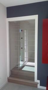 W20170516_150742porta vetro cassa eclisse float sabbiato profilo alluminio interno muro