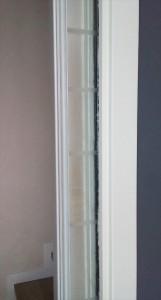 W20170516_150837porta vetro cassa eclisse float sabbiato profilo alluminio interno muro