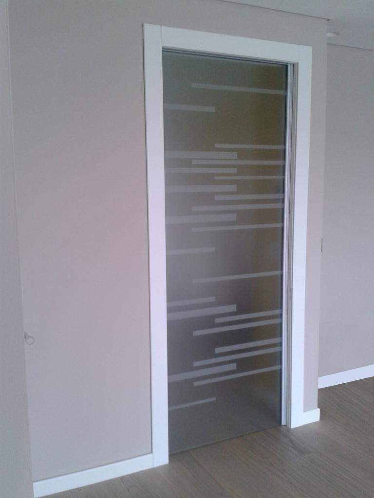 Porte Con Vetro Satinato scorrevoli interno muro - porte di vetro vetrate artistiche